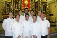 L-R: Edmund Lim, Paul Jacinto, Jun Rodriguez, Fr. Joel and Raj Moreno, Mike Limpe, Macky Ochoa, Ditto Lesaca and Cesar Poe