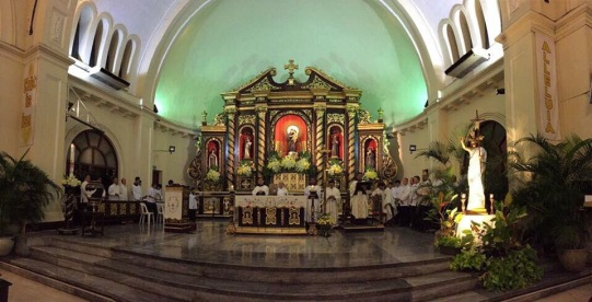 Easter Vigil Altar with Risen Lord